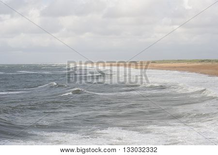 The Atlantic Coast During High Tide..