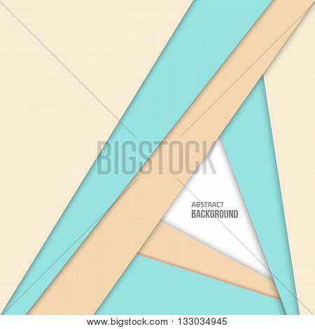 Material design blue background. Flat design layout. Abstract shape material design. Vector flat background.  Fashion blue background.