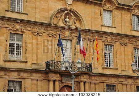 Aix en Provence France - april 21 2016 : the historical city hall