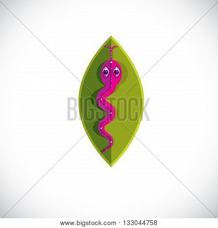 Poisonous snake graphic vector illustration modernistic colorful image of dangerous reptile isolated on white background. Zoology theme.