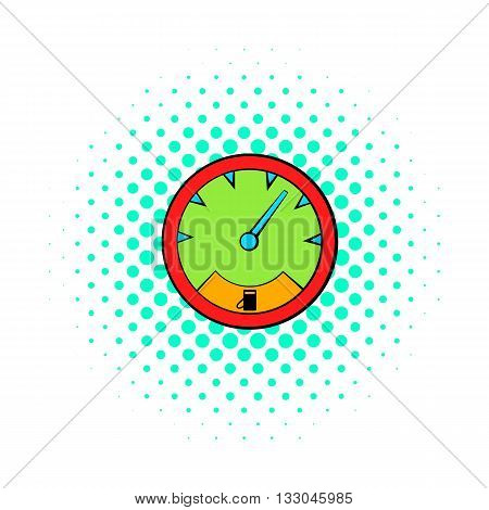 Speedometer icon in comics style on a white background