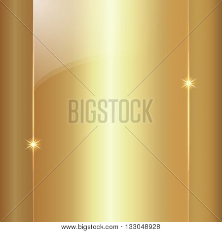 Vector abstract colored shining gold metallic background plate