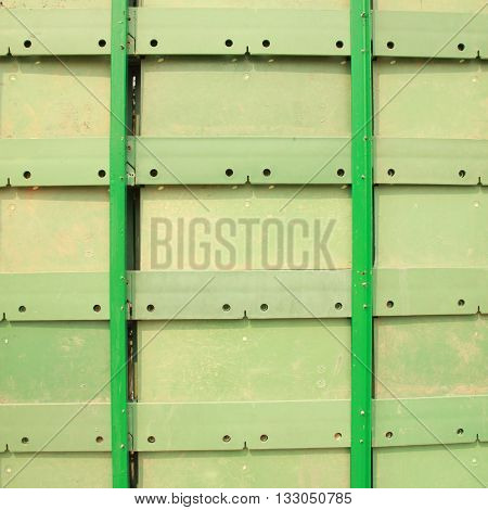 The green color iron construction isolated on white color backgrond