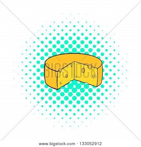 Dutch cheese icon in comics style on a white background