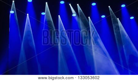 Stage lights on a console smoke image of stage lighting effects