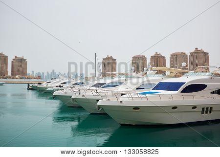Qatar yacht marina view - the pearl