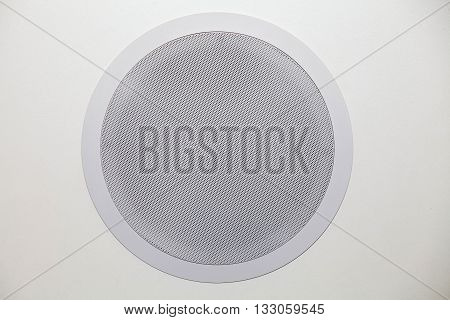 White audio speaker system, loudspeaker on white background