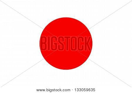 Vector of official flag of Japan country, japanese flag illustration
