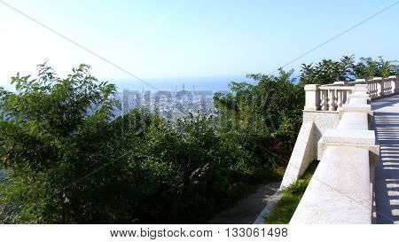 Beautiful view from the height on the Georgian city of Batumi.