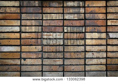 texture of red brick wall, old brick wall