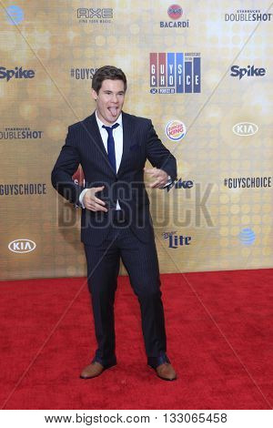 LOS ANGELES - JUN 4:  Adam Devine at the 10th Annual Guys Choice Awards at the Sony Pictures Studios on June 4, 2016 in Culver City, CA