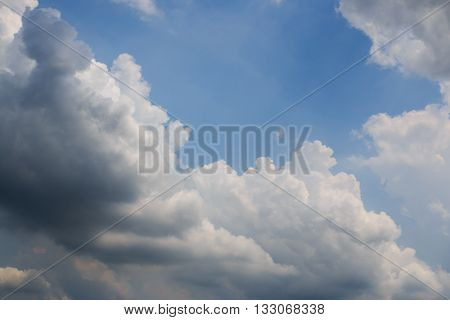 The White clouds overcast with blue sky