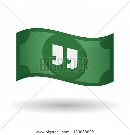 Illustration Of A Waving Bank Note With  Quotes