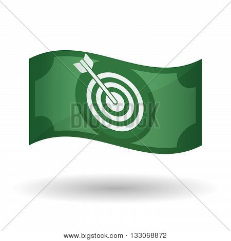 Illustration Of A Waving Bank Note With A Dart Board
