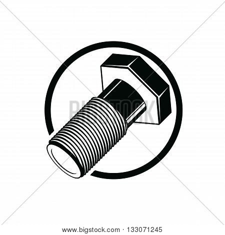 Bolt 3d detailed vector illustration. Professional work tools isolated on white. Repair theme three-dimensional monochrome symbol.