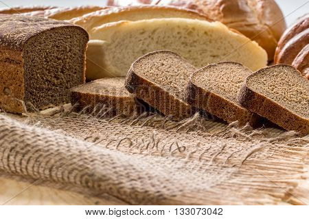 Rye Bread And White Long Loaf