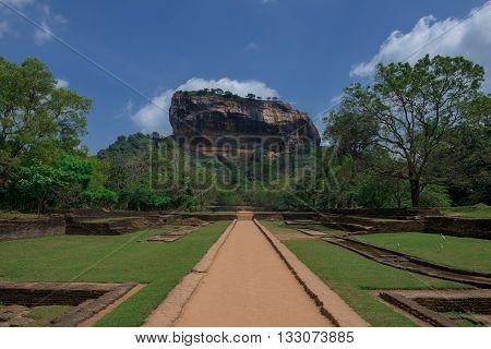 Sigiriya rock - famous Sri Lankan tourist landmark Sri Lanka