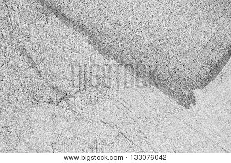 Gray Concrete Wall With Plastering Relief
