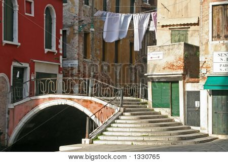 A Beautiful Bridge Of Venice Italy