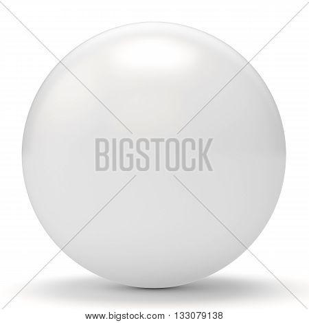 3D White Sphere