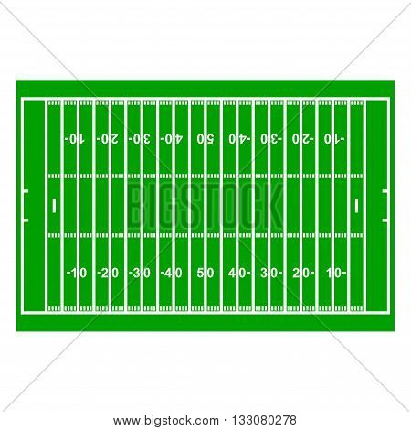 American Football Field with Line and Grass Texture vector illustration
