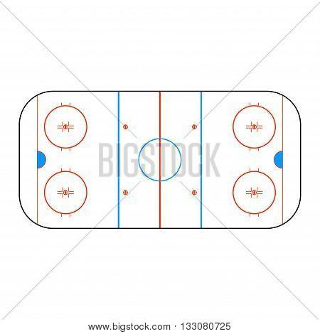 Hockey arena. Vector illustration for design. EPS