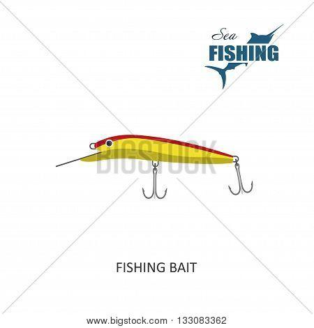 Fishing bait. Item of fishing. Vector Illustration
