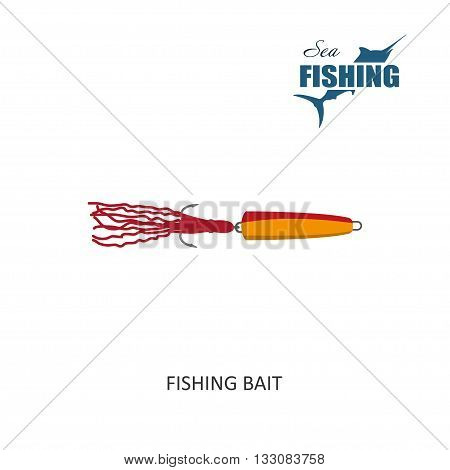 Fishing bait. Item of fishing. Vector Illustration