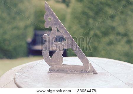 Garden Sundial set on a stone platform