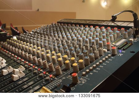 the sound mixer for the direction of the show