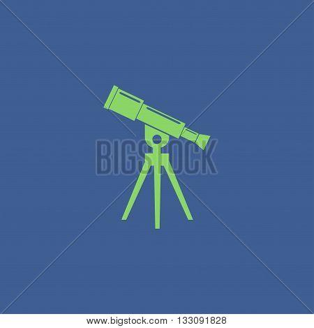 Telescope icon. Flat design style eps 10