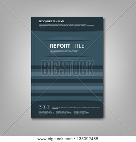 Brochures book or flyer with abstract blue pockets template vector eps 10