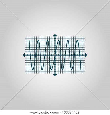 Sinusoid Icon In Vector Format. Premium Quality Sinusoid Symbol. Web Graphic Sinusoid Sign On Grey B