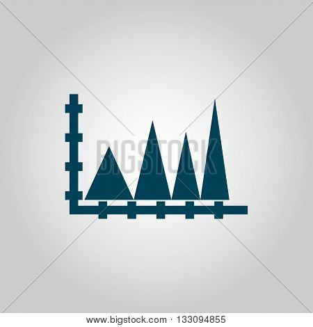 Triangle Icon In Vector Format. Premium Quality Triangle Symbol. Web Graphic Triangle Sign On Grey B