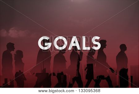 Goals Aspiration Target Vision Confidence Hopeful Concept