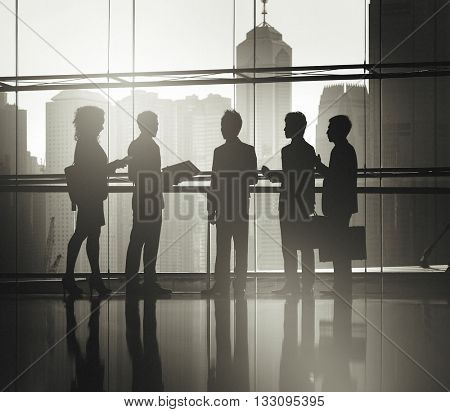 Business People Meeting Silhouette Concept
