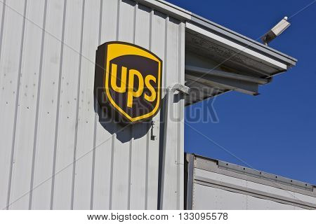 Indianapolis - Circa June 2016: United Parcel Service Location. UPS is the World's Largest Package Delivery Company III
