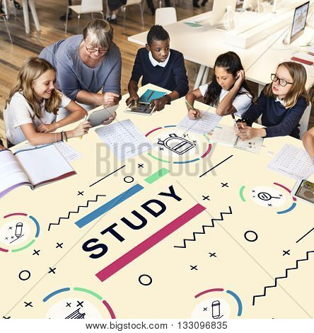 Literacy Training Schooling Study University Concept
