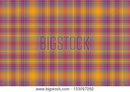 Illustration of orange and purple checkered pattern