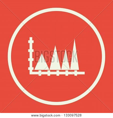 Triangle Icon In Vector Format. Premium Quality Triangle Symbol. Web Graphic Triangle Sign On Red Ba