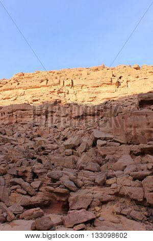 Red Canyon Around Dahab