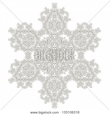 Mandala Isolated on White Background. Round Ornament