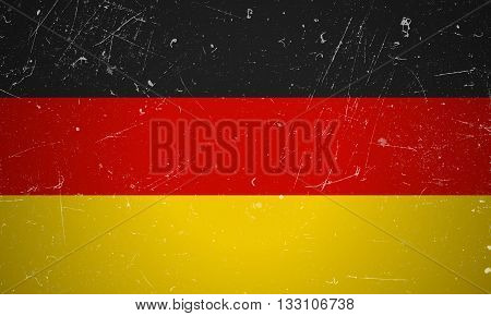 German flag with grunge texture.Vector German flag.