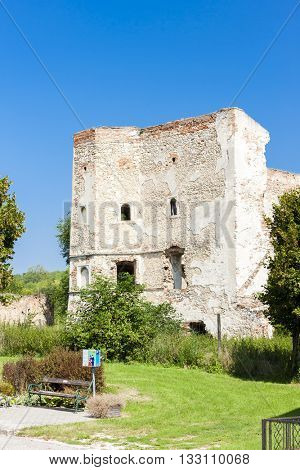 ruins of Wenzersdorf Castle, Lower Austria, Austria