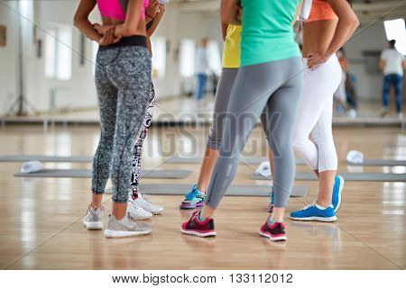 Fitness group-legs concept