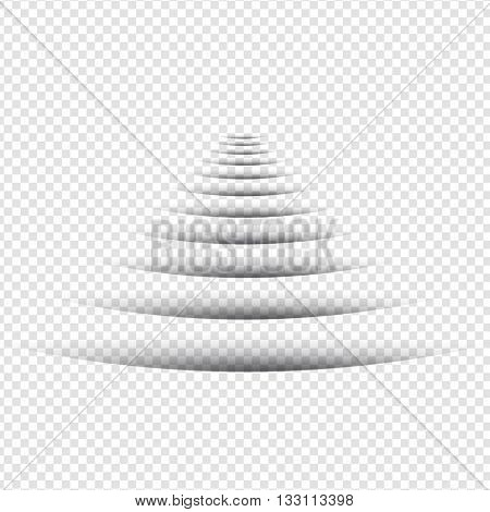 Line Shadow - Round Design Elements on Isolated Background
