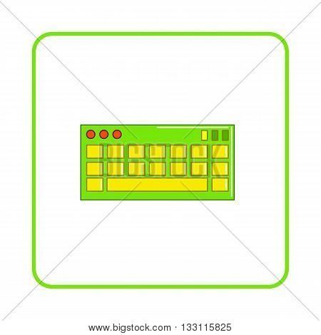 Keyboard icon in simple style on white background. Device symbol