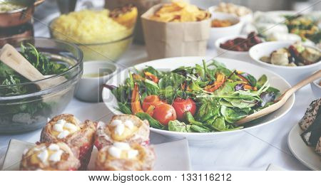 Salad Party Vegetables Buffet Appetise Concept