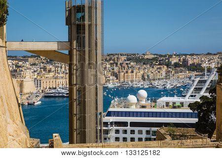 Valletta, Malta - May 05, 2016: Barrakka Lift