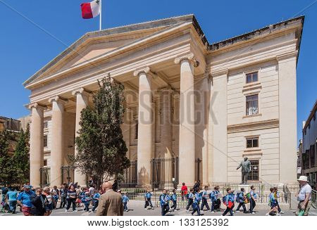 Valletta, Malta - May 05, 2016: Courts Of Justice Building